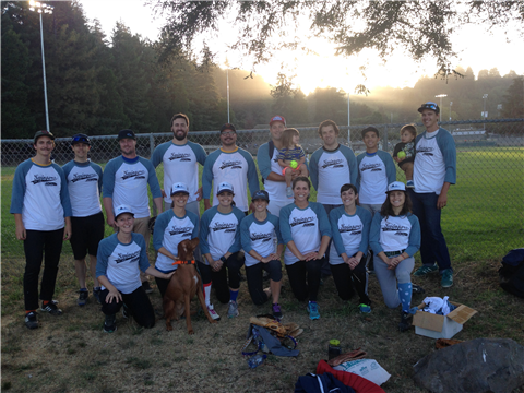 City of Santa Cruz Co-Rec APWA YP Softball Team